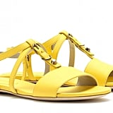 Bold yellow and a slick studded detail — what's not to love here? Balenciaga Classic Studded Leather Sandals ($545)