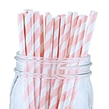 Decorative Striped Paper Straws