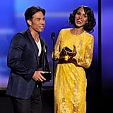 Apolo Ohno and Kerry Washington