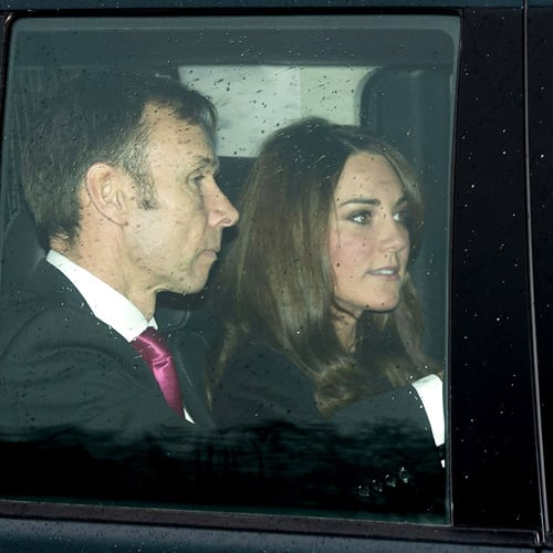 Pregnant Kate Middleton Goes to Christmas Lunch at Palace
