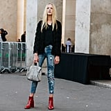 Amp Up Your Worn-In Jeans With Colorful Boots