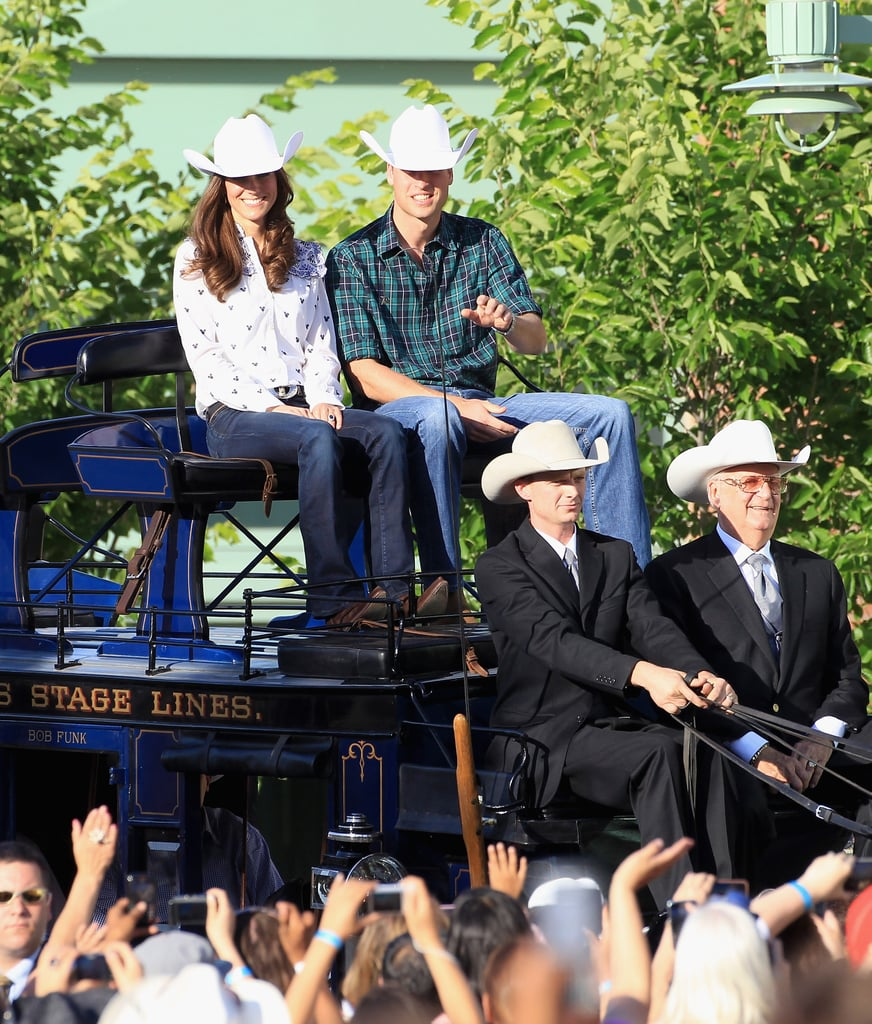Prince William and Kate Middleton rode into the Calgary rodeo on a special carriage.
