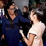 Pictured: Oprah Winfrey and Yara Shahidi