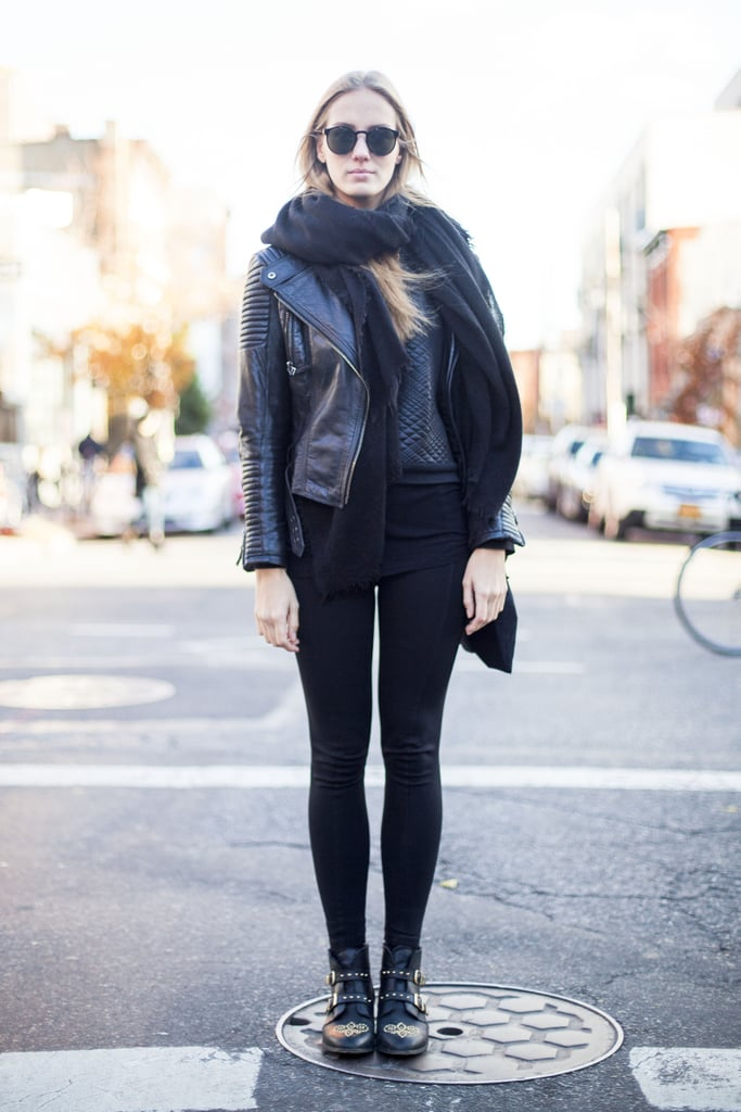 Add Drama to an All-Black Look With Bountiful Layering