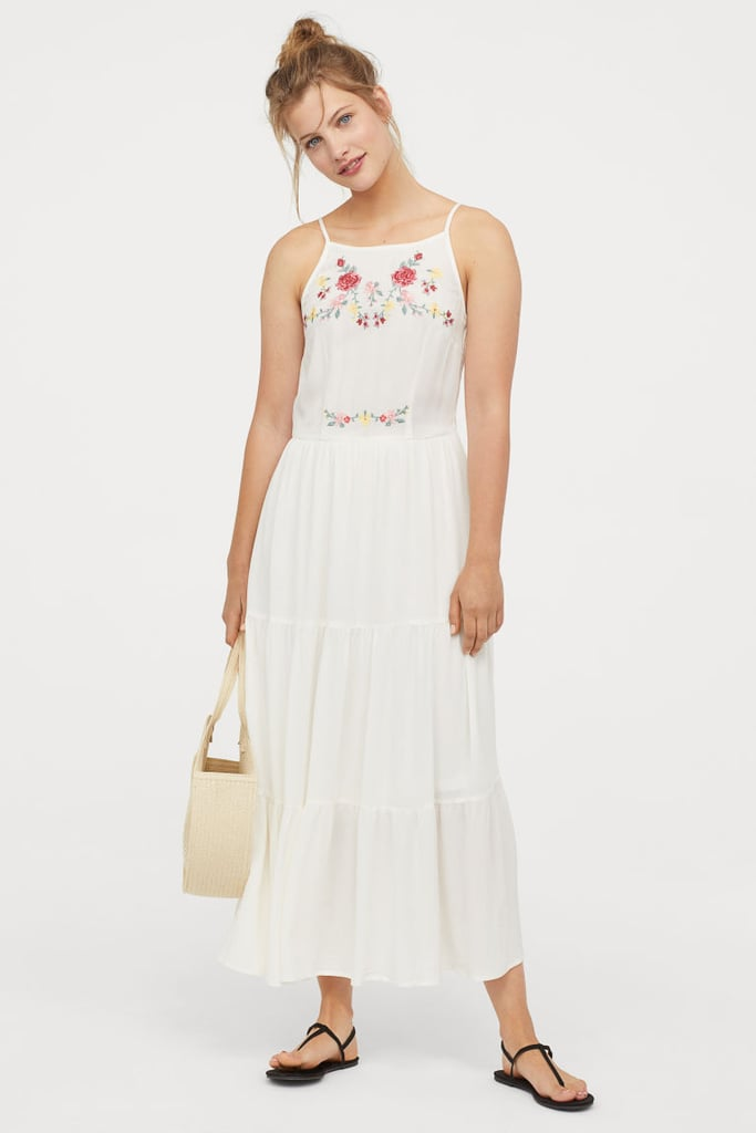 747d6553b043f H&M Dress With Embroidery | Best White Dresses 2019 | POPSUGAR ...