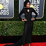 LaLa Milan at the 2020 Golden Globes