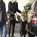 Nicole Richie with Harlow at ballet class.