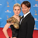 Costars and spouses Anna Paquin and Stephen Moyer kept close at last year's show.