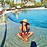 Lea Michele shared this cute bikini photo from vacation in Mexico. Source: Instagram user msleamichele
