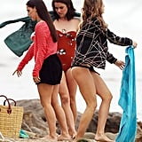 AnnaLynne McCord, Jessica Stroup, and Jessica Lowndes shot 90210.