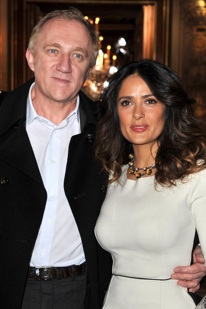 François-Henri Pinault and Salma Hayek posed in Paris.