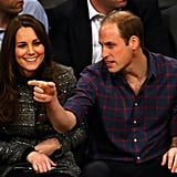 Prince William and Kate Middleton at Brooklyn Nets Game