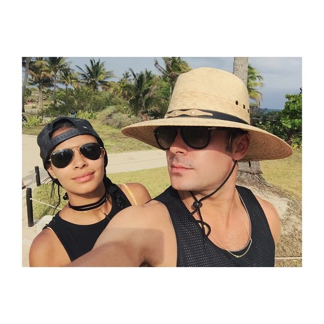 """Zac Efron and Sami Miro vacationed in Mexico together this week and posted a few sweet snaps from their trip on Instagram. Sami captioned one shot """"Viva Mexico,"""" while Zac took time to thank his fans in another. The couple are still going strong after first stepping out together in October last year. They've kept their relationship pretty private, though Sami did open up about what it's like to date someone as famous as Zac in an interview with Elle magazine. Sami isn't the only lady in Zac's life who has been talking about him, since his ex Vanessa Hudgens also recently revealed how she handled her time with the star. Vanessa told The New York Times that she used to give Zac's fans """"death stares"""" but she later realized that """"that's not what that's about. 'Spread the love, be a good person, they support you, be nice.'"""""""