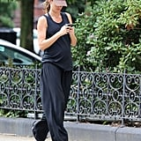 Gisele Bundchen rocked a casual look on her walk home from the gym.