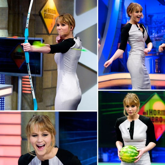 Jennifer Lawrence Shows Off Her Archery Skills on Silly El Hormiguero