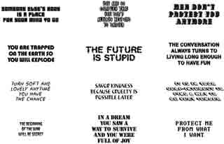 Jenny Holzer Temporary Tattoo Art