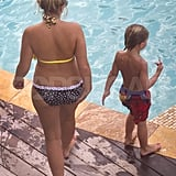 Jamie Lynn Spears in a bikini with nephew Jayden James Spears Federline.