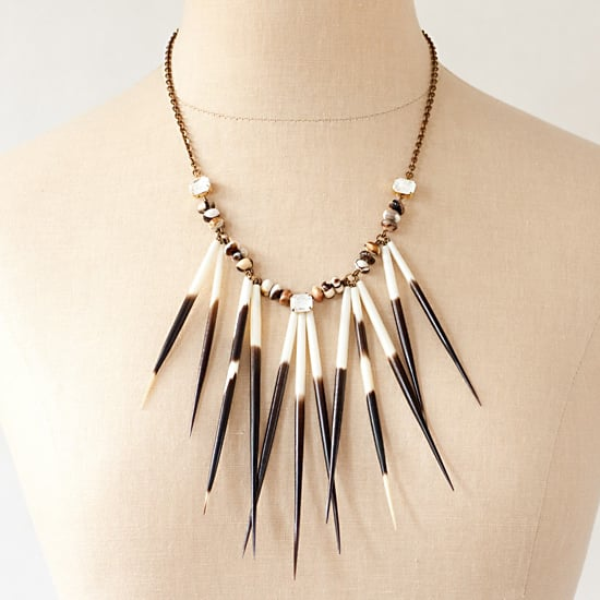 Radiant II Urban Pioneer Porcupine Quill Necklace, $240