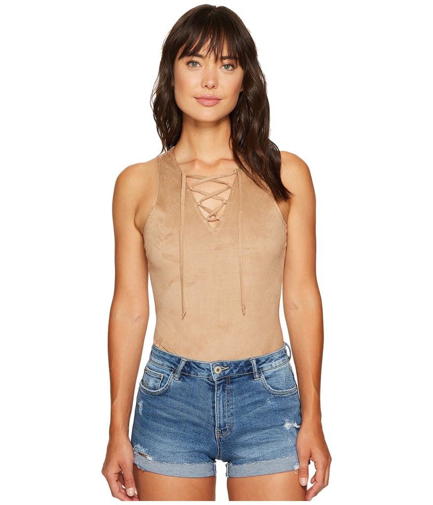 Jack by BB Dakota Luise Soft Faux Suede Bodysuit