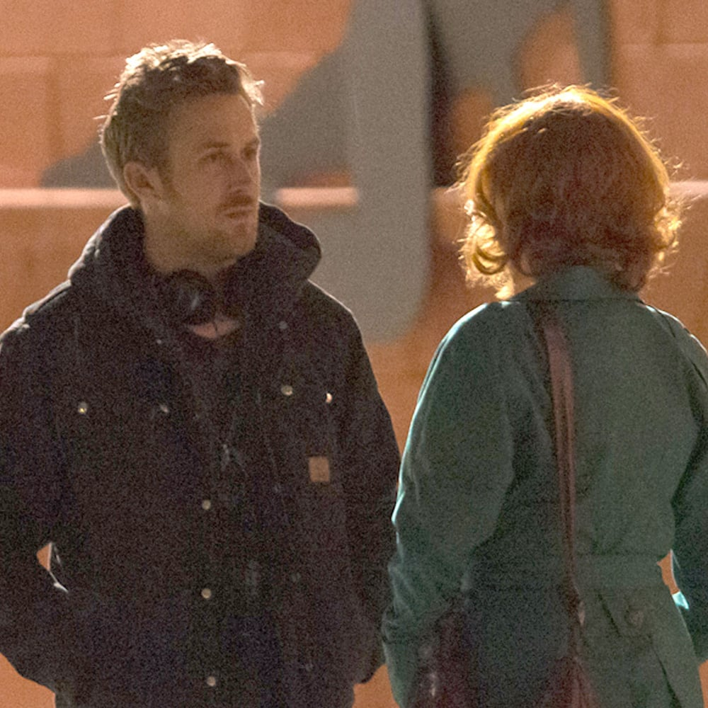 Ryan Gosling, Christina Hendricks, and Matt Smith Filming