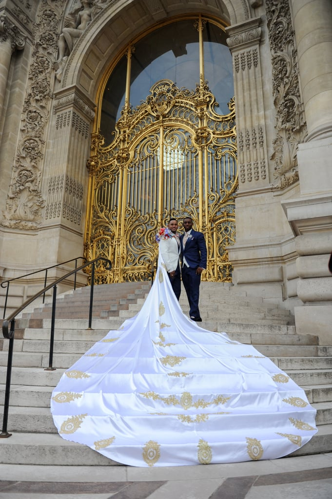 James and Riccardo Burrell-Hinds had a showstopping wedding in Paris. See the wedding here!