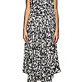 Derek Lam Floral Silk Jacquard Strapless Dress