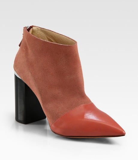 We love the subtle cap-toe detailing on these gorgeous See by Chloé Suede and Leather Ankle Boots ($291, originally $415).