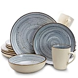 Elama's Mellow Blue Dinnerware Set