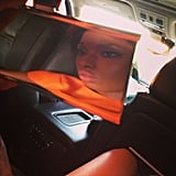 Jennifer Hudson snapped a picture in her car. Source: Instagram user iamjhud