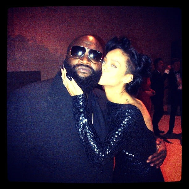 Rihanna and Rick Ross caught up. Source: Instagram User badgalriri