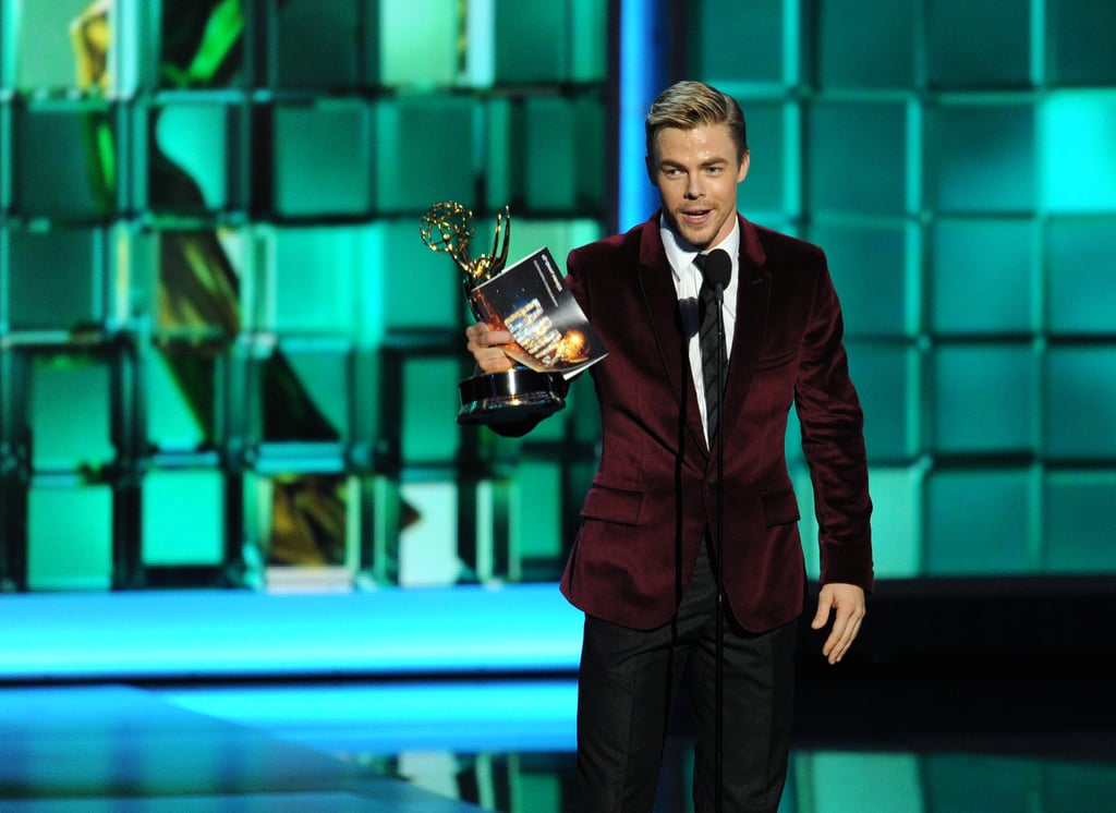 Derek Hough accepted the award for outstanding choreography for his work on Dancing With the Stars.