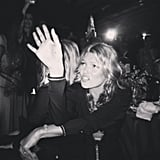 Kate Moss wore all black while attending the amfAR Gala in Brazil. Source: Instagram user derekblasberg