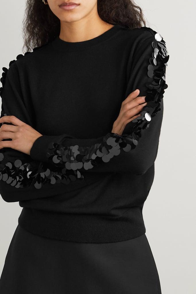 Bella Freud Lady Day Paillette Embellished Wool Sweater
