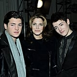 Stephanie Seymour and her sons Peter and Harry Brant checked out Jason Wu's presentation in NYC in February.