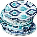 Mudhut MudhutTM Blue Ikat Melamine Salad Plates - Set of 4 ($13)
