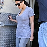 Kim Kardashian Has a Gray Day Without Kanye
