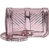Rebecca Minkoff Small Love Quilted Metallic Crossbody
