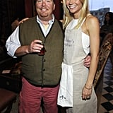 Gwyneth and one of her best pals, chef Mario Batali, linked up to celebrate her first book My Father's Daughter, in NYC in April 2011.