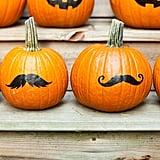 Mustache Pumpkins