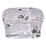 PrettyLittleThing Cream Newspaper Printed Bandeau Crop Top
