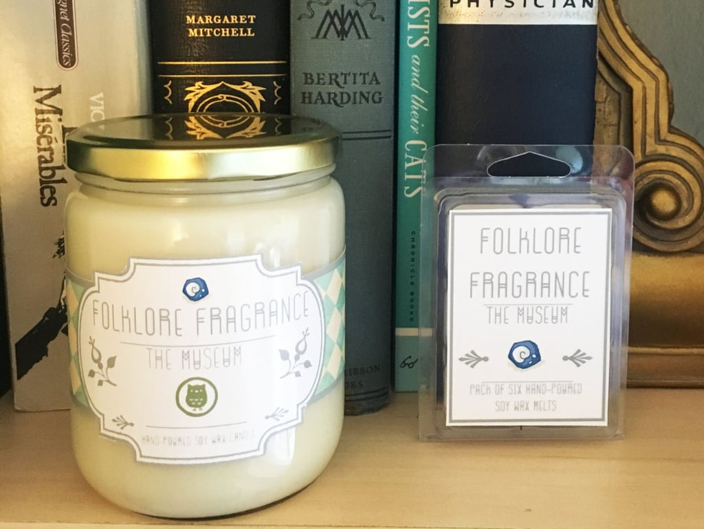 Animal Crossing Museum candle ($15) with leather, dusty paper, and subtle orchid notes