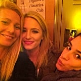 Gwyneth Paltrow posed with Dianna Agron and Lea Michele on the set of Glee. Source: Instagram user gwynethpaltrow
