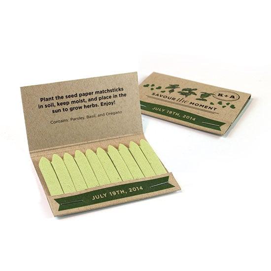 Herb Matchstick Favors