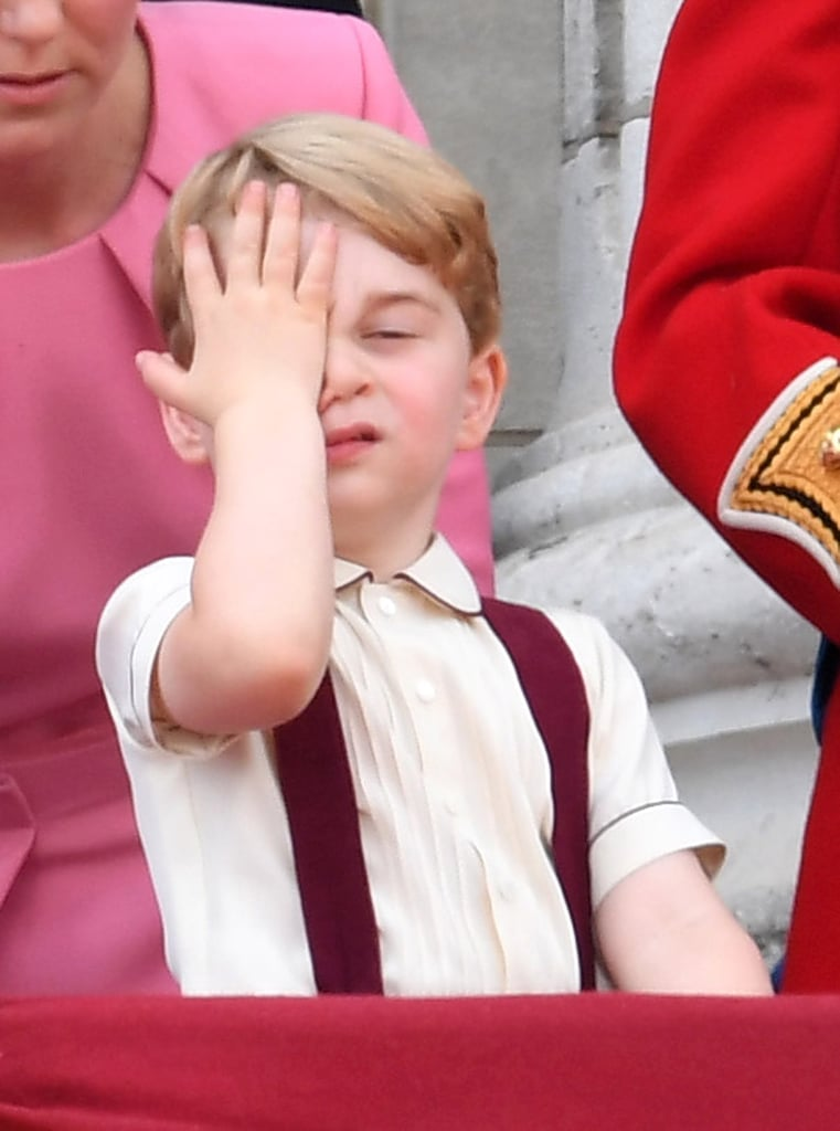 Prince George just couldn't hide his exasperation after a long day at the Trooping the Colour in June.