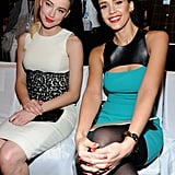 Jessica posed for a snap with Amber Heard.