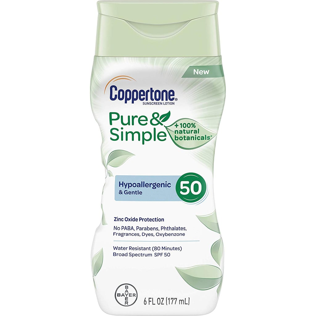 Coppertone Pure & Simple Kids Sunscreen Lotion, SPF 50