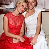 She shared a sweet moment with Claire Danes during the 2012 Vanity Fair Oscars afterparty in LA.