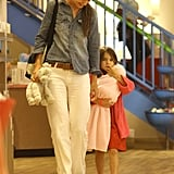 Suri Cruise wore all pink during a shopping trip with Katie Holmes.
