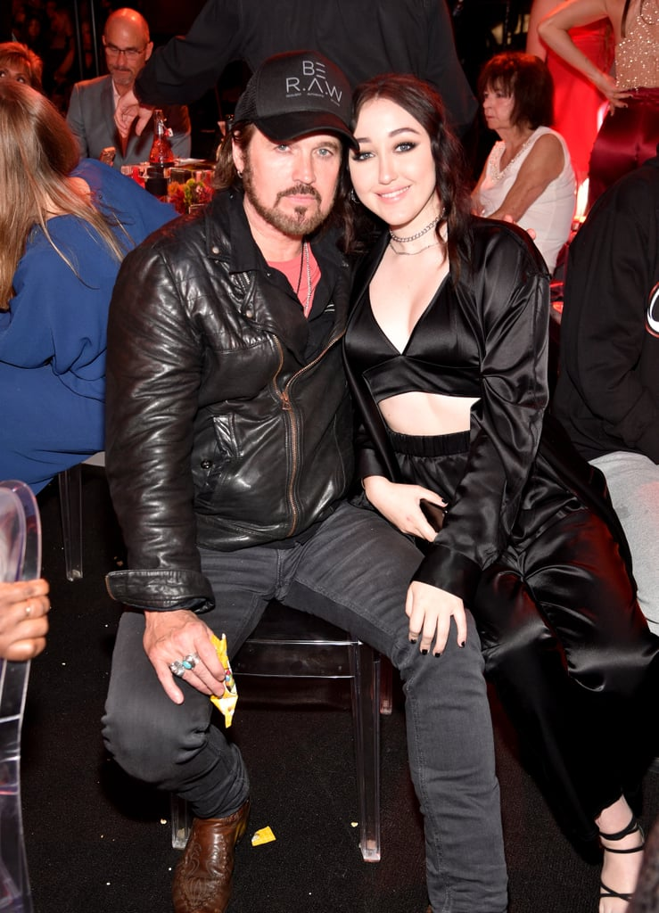 Noah and Billy Ray Cyrus at the MTV Movie and TV Awards 2017