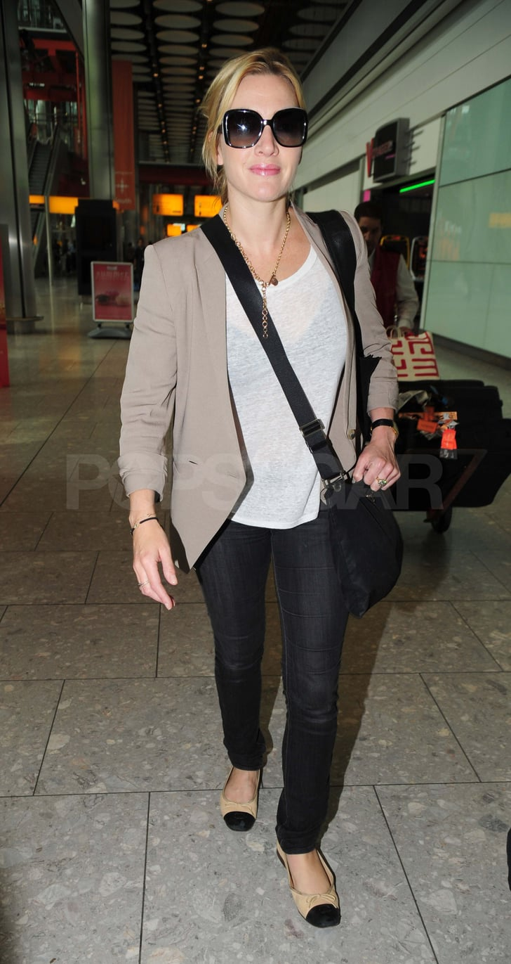 Kate Winslet at Heathrow.